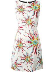 Fausto Puglisi Sun Print Sleeveless Dress White