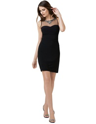 Hailey Logan Illusion Bodycon Dress Black