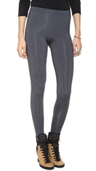 David Lerner Classic 8'' Rise Leggings Charcoal Heather