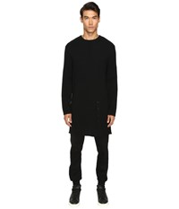 D.Gnak Knitted Long Pullover Black Red