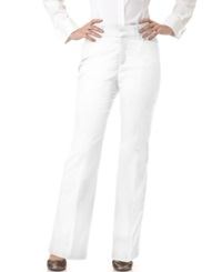 Jm Collection Petite Twill Straight Leg Trousers