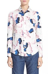Women's Julien David Camo Print Silk Shirt