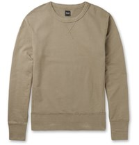 Albam Garment Dyed Cotton Jersey Sweatshirt Army Green