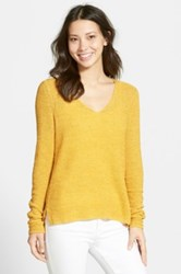 Nic Zoe Basking V Neck Pullover Yellow