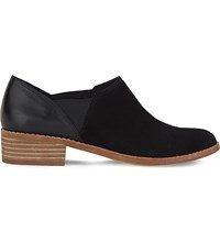 Aldo Aucoin Leather And Suede Ankle Boots Black Suede