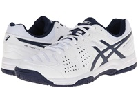 Asics Gel Dedicate 4 White Navy Silver Men's Tennis Shoes