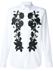 Alexander Mcqueen Floral Embroidered Shirt White
