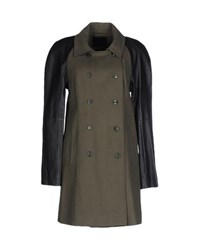 Gestuz Coats And Jackets Coats Women Military Green