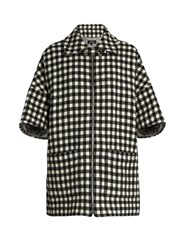 A.P.C. Granville Checked Wool Blend Coat Black White