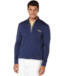 Callaway Golf Performance 1 4 Zip Waffled Fleece Blueprint