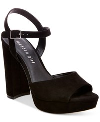 Madden Girl Sharpe Block Heel Platform Sandals Women's Shoes Black