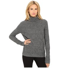 Marc By Marc Jacobs Superyak Turtleneck Sweater Dark Grey Melange Women's Sweater Black