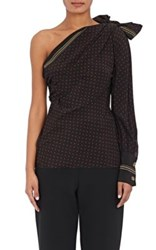 Philosophy Di Lorenzo Serafini Women's Dotted Silk One Shoulder Top Black