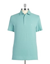 Black Brown Cotton Polo Shirt Sea Green