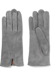8 Suede Gloves Gray