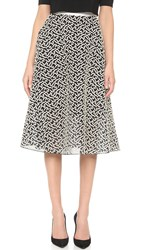 Lela Rose Full Skirt Black Ivory