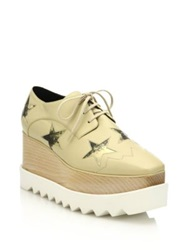 Stella Mccartney Star Embellished Faux Leather Platform Oxfords Nude