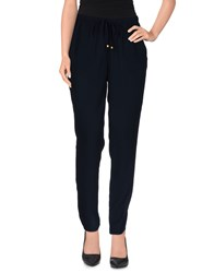 Only Trousers Casual Trousers Women Dark Blue