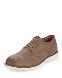 Ben Sherman Ronnie Lace Up Wing Tip Shoe Stone