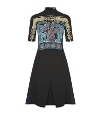 Peter Pilotto Embroidered Cady Dress Female Black