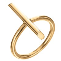 Delphine Leymarie Long Stick Ring 18K Yellow Gold