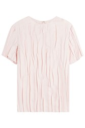 Nina Ricci Crinkled Silk Top Rose