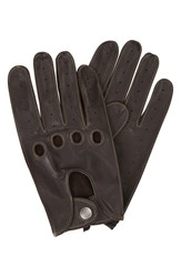 Men's Original Penguin Sheepskin Leather Driving Gloves Brown