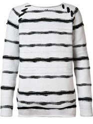 Baja East Striped Jumper White
