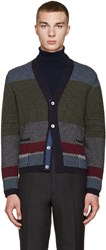 Thom Browne Multicolor Camel Hair Cardigan