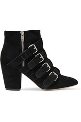 Rebecca Minkoff Audrey Suede Ankle Boots Black