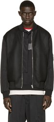Mcq By Alexander Mcqueen Black Mesh Bomber Jacket