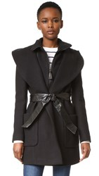 Mackage Siri Wrap Coat Black