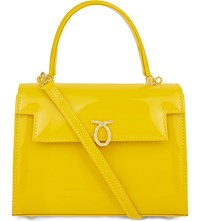 Launer Judi Leather Tote Yellow