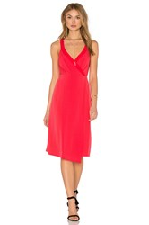 Bcbgeneration Drape Front Midi Dress Red