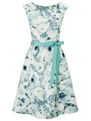 Jacques Vert Petite Frosted Garden Prom Dress Mid Green