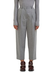 Acne Studios Milli High Waisted Cropped Pants Grey