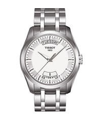 Tissot Mens Couturier Automatic Stainless Steel Watch Silver