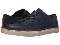 Frye Gates Low Lace Indigo Sunwashed Nubuck Men's Lace Up Casual Shoes Blue