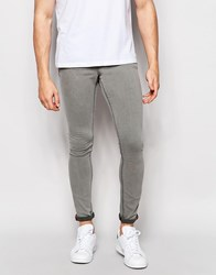Pull And Bear Super Skinny Jeans In Light Gray Light Gray