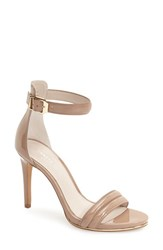 Kenneth Cole Women's New York 'Brooke' Ankle Strap Sandal Buff Patent