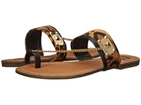 G By Guess Lucia 2 Natural Black Detail Women's Sandals