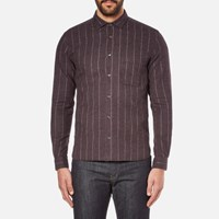 Ymc Men's Curtis Shirt Burgundy