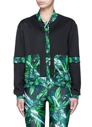 We Are Handsome 'The Retrograde' Forest Print Active Track Jacket Multi Colour
