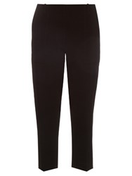 Dion Lee Mid Rise Cropped Cady Trousers Black