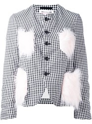 Comme Des Garcons Girl Embellished Detailing Checked Blazer Black