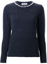 Muveil Collar Embellished Sweater Grey