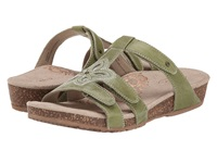 Aetrex Jeannette Adjustable Three Strap Slide Sage Women's Sandals Green
