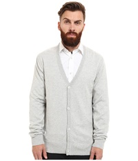 Wesc Borik Knitted Sweater Cardigan Monument Men's Clothing Gray