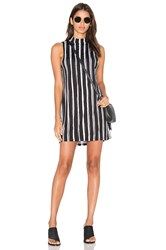 Motel Leid Dress Black And White