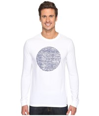 Hurley Circular Long Sleeve Tee White Men's T Shirt